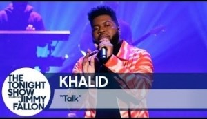 "Khalid Performs ""talk"" Live On The Tonight Show"